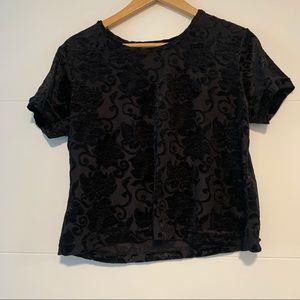 Gloria Vanderbilt | Vintage Velvet  Tee Shirt